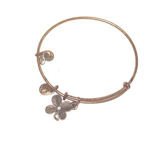 ALEX AND ANI four leaf clover charm